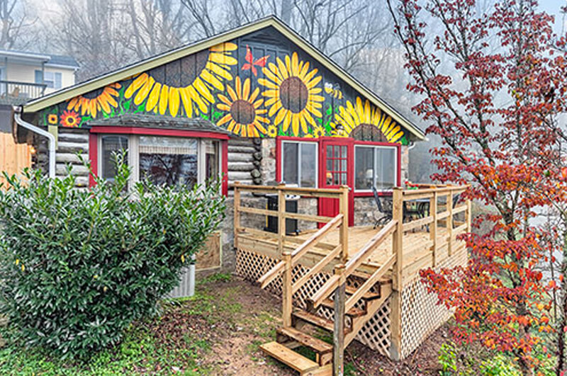 Asheville log cabin rentals for Asheville cabin rentals pet friendly